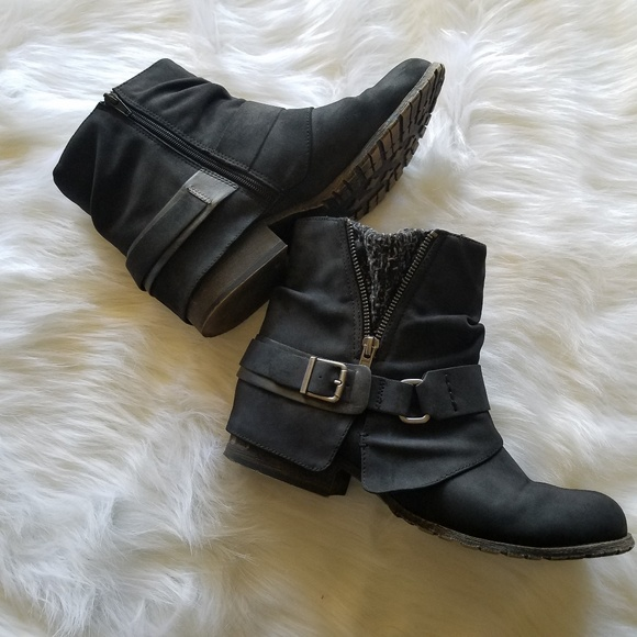 Black Jellypop Libra Moto Boots Size